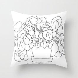 Pilea Plant Throw Pillow