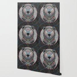 Neon Tribal Bear Wallpaper