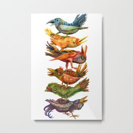 Bird Totem of Six Metal Print
