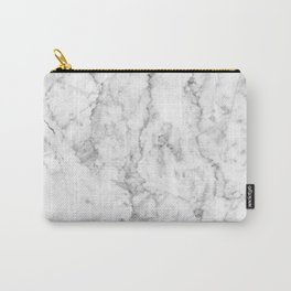 Gray Marble Background Carry-All Pouch