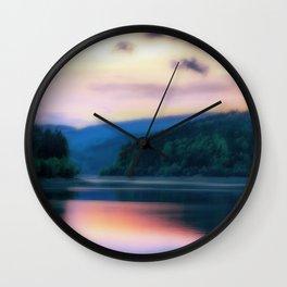 Colorful Lake Wall Clock
