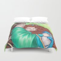 merida Duvet Covers featuring Merida and Elinor by Kimberly Castello
