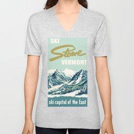 2021 Ski Stowe Vermont Vintage Poster  Unisex V-Neck