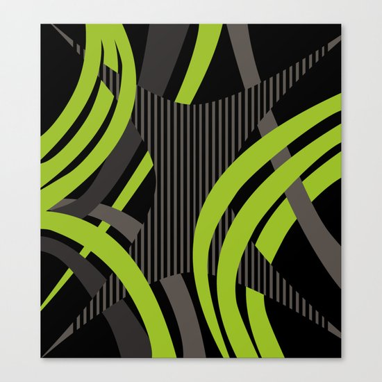 Green Wire Canvas Print