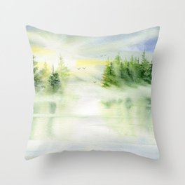 Where My Heart is  Throw Pillow