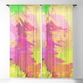 TROPICALIA Sheer Curtain