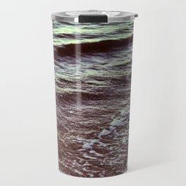 Green Ocean Waves Travel Mug