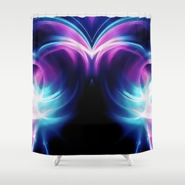 abstract fractals mirrored reacc80 Shower Curtain