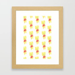 Child's version of the Pooh Framed Art Print