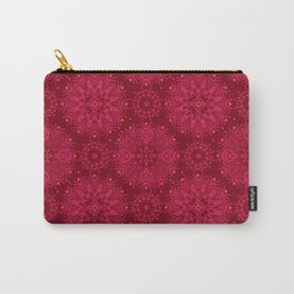 Red monochrome ornament . Carry-All Pouch