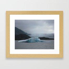 Iceberg, Grewingk Glacier, Kachemak Bay State Park, Kenai Peninsula, AK Framed Art Print
