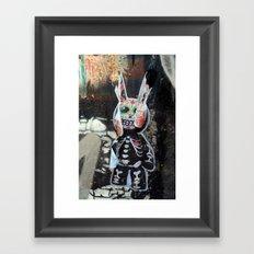 Dead bunny Framed Art Print