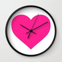 Heart (Dark Pink & White) Wall Clock