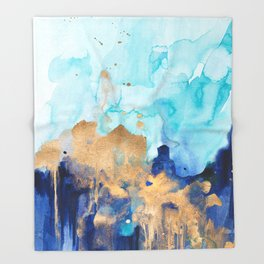 Abstract watercolor Throw Blanket