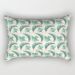 Calm Forest Ferns - Cream Rectangular Pillow