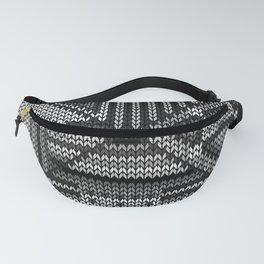grey knit Fanny Pack