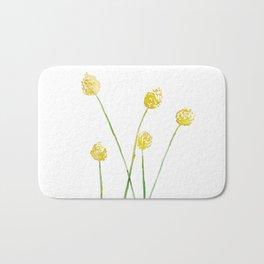 Yellow Billy Button Flowers Bath Mat