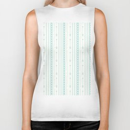 Blush green bohemian arrows zigzag geometrical Biker Tank