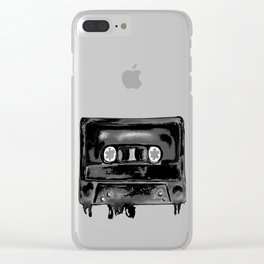 Black Tape Clear iPhone Case