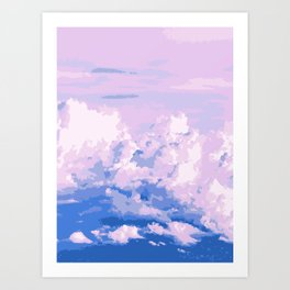 Cotton Candy in Sky Art Print