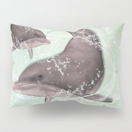 Two Dolphins #Society6 Pillow Sham