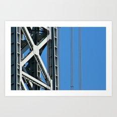 George Washington Bridge Detail Art Print