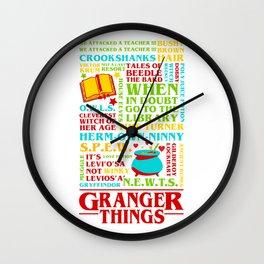 Granger Things Wall Clock