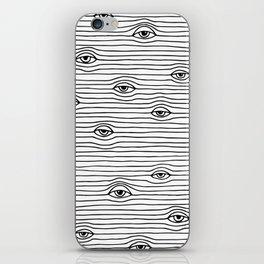 PEEPING TOM [BLK & WHT] iPhone Skin
