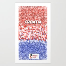 LIMITED EDITION!!! - FIFA World Cup 2018 Croatia Art Print