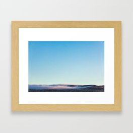 Smoke on the Mountain Framed Art Print