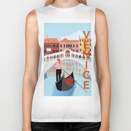 Venice Art Print Biker Tank