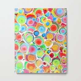 Sunshine on Your Spotty Mind (Alcohol Inks Series 07) Metal Print