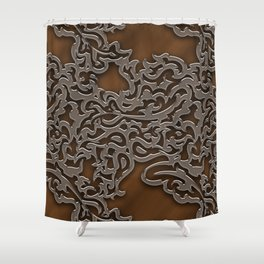 Floral embossing - copper Shower Curtain