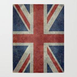 England's Union Jack, Dark Vintage 3:5 scale Poster