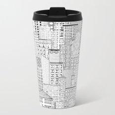 City Doodle (day) Metal Travel Mug