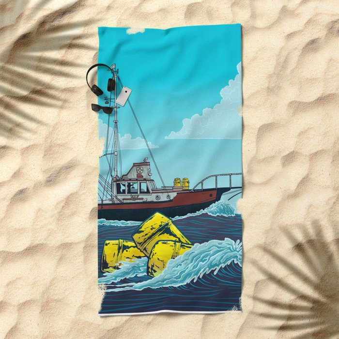 Jaws: Orca Illustration Beach Towel