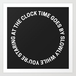 for clocks - april/21 Art Print