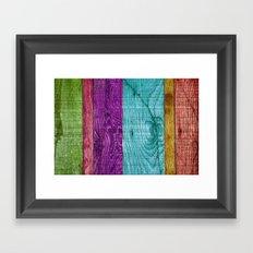 Colorful Wood  Framed Art Print