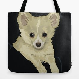 Long Hair Chihuahua Tote Bag