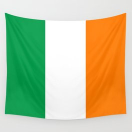Irish national flag - Flag of the Republic of Ireland, (High Quality Authentic Version) Wall Tapestry