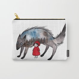red riding hood and wolf Carry-All Pouch