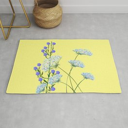 My Kentucky Wild Flowers, Queen Anne Lace and Flax Rug