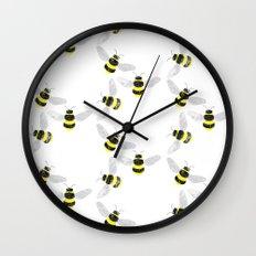 Fuzzy Bumblebees Wall Clock