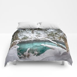 Adventure Awaits River - Pacific Northwest Nature Photography Comforters