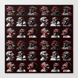 3x3 Head Monster Cover Canvas Print