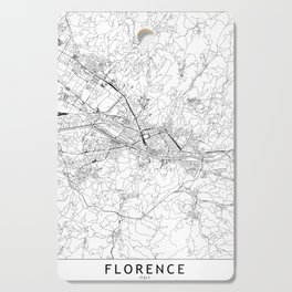 Florence White Map Cutting Board