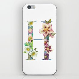 Floral Monogram Collection H iPhone Skin