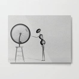 AntWoman & Duchamp's wheal Metal Print