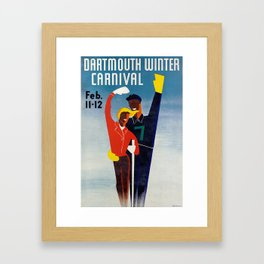 Dartmouth Winter Carnival - Vintage Poster Framed Art Print