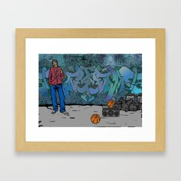 Back Street Framed Art Print